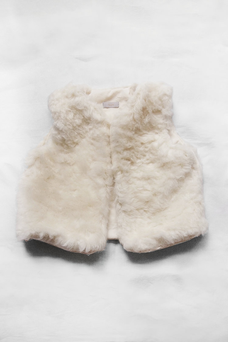 Makie: Dream Vest, GOTS certified organic cotton baby vest - cream. Top