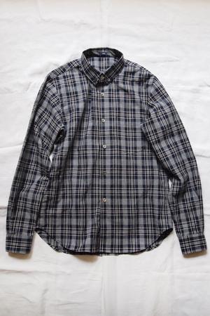 Women 39 s shirt will gray plaid makie for Grey plaid shirt womens