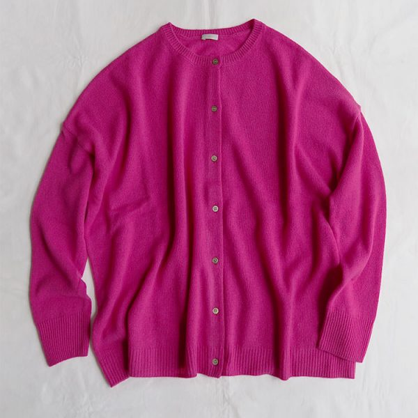 Women's Cashmere Cardigan 17FW, Pink - MAKIE
