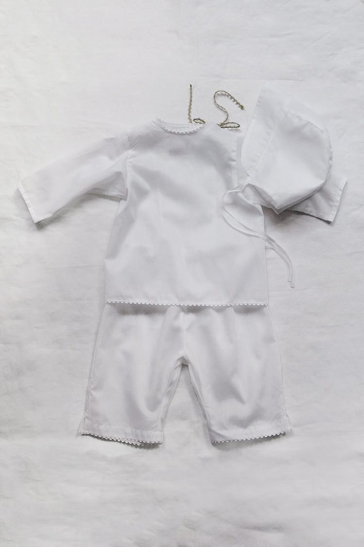 Makie: Baby Set #7 Swiss Cotton - White. Top.