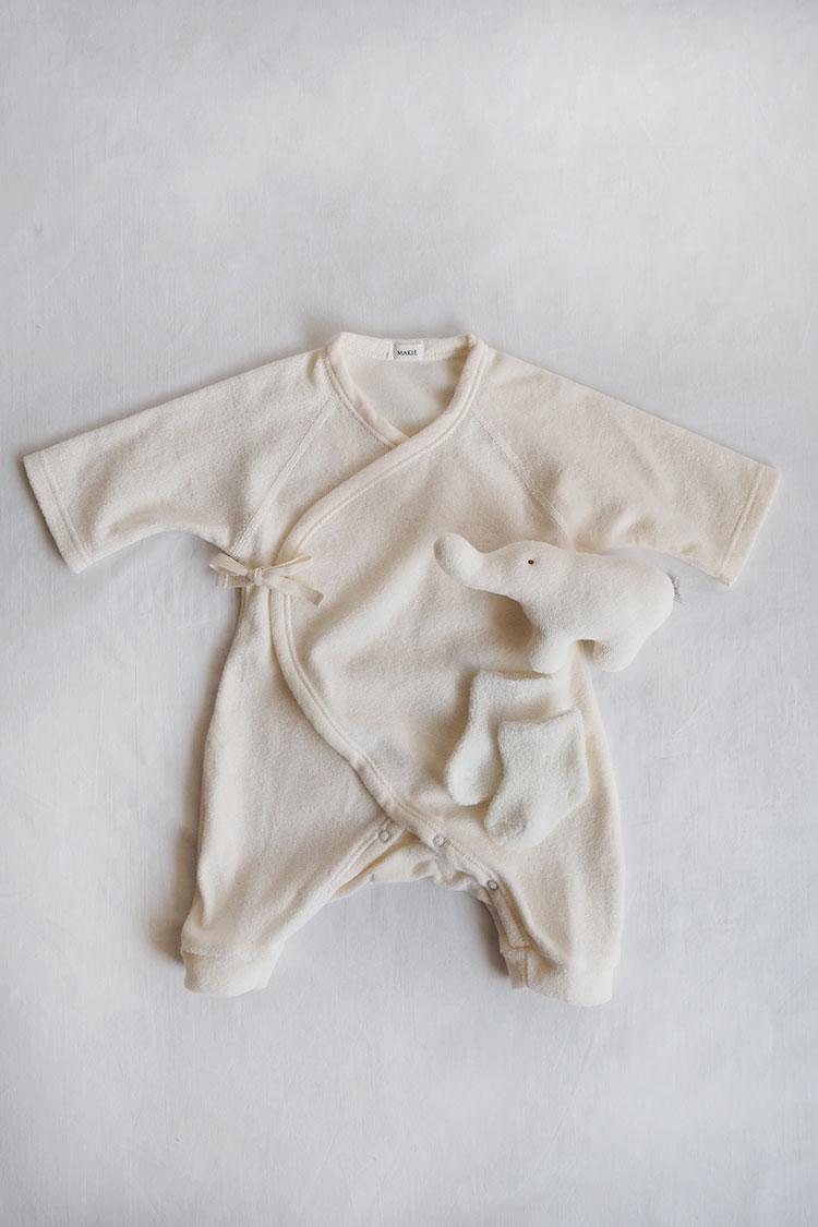 Makie Baby Set #9 – Ivory. A perfect baby shower gift. Top