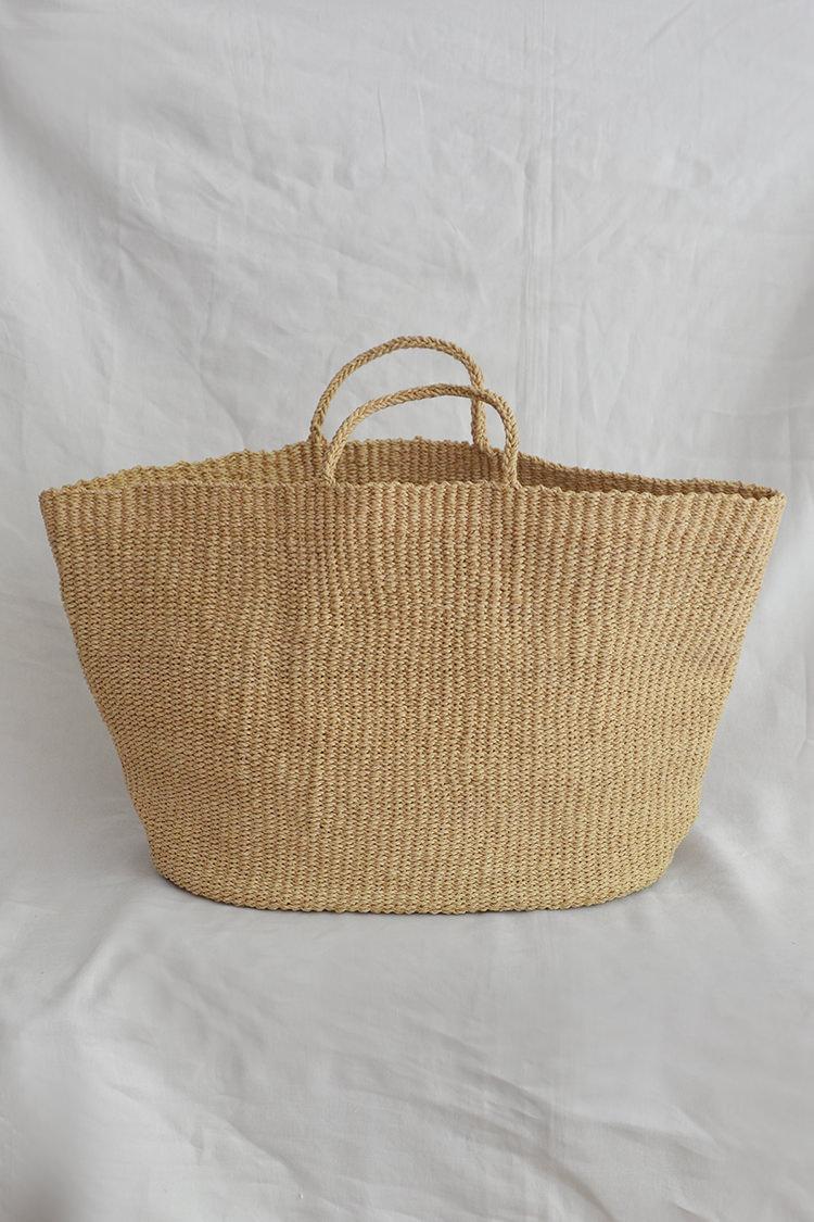 Sophie Digard raffia market bag in natural