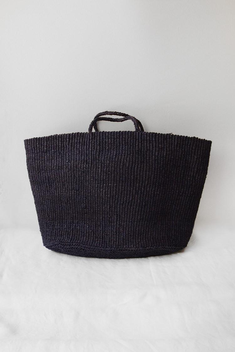 Sophie Digard raffia market bag in navy