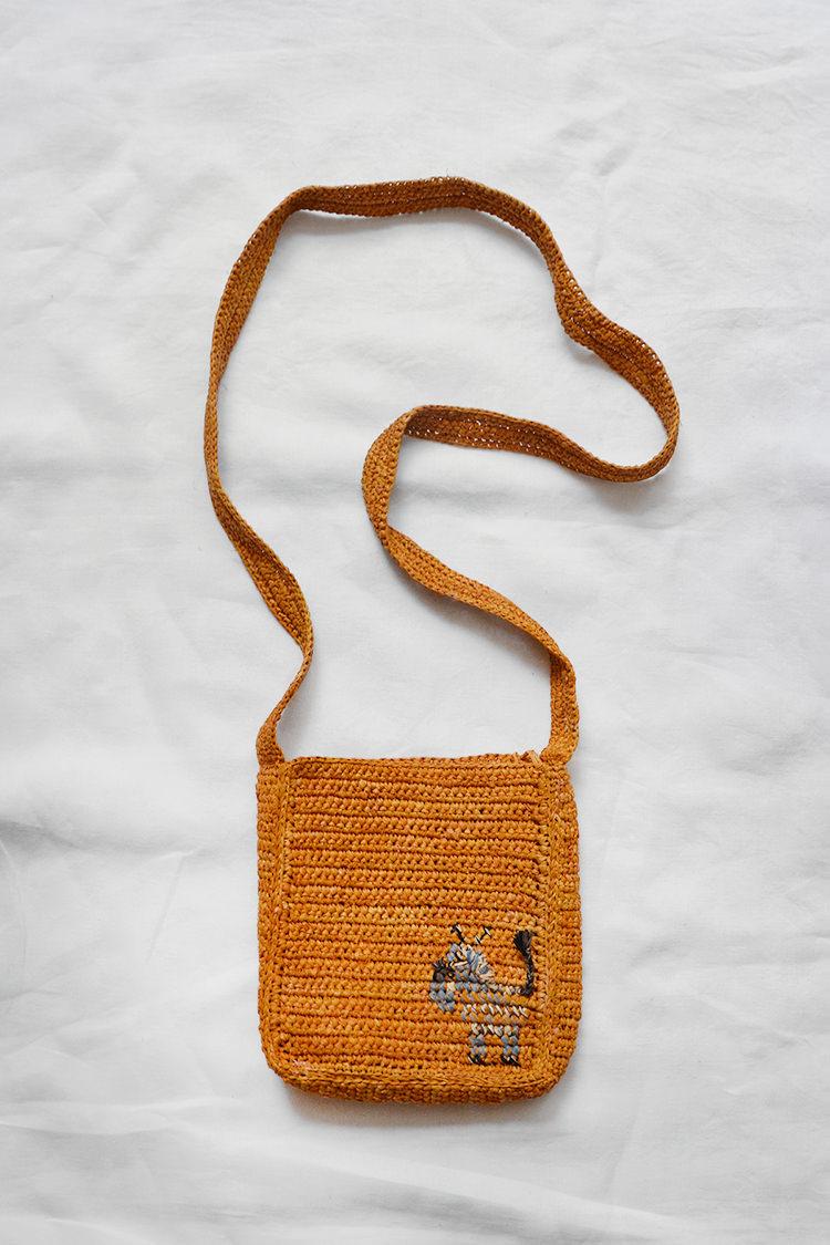 Sophie Digard raffia shoulder bag in mustard