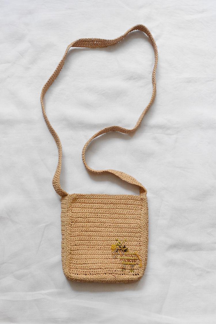 Sophie Digard raffia shoulder bag in natural