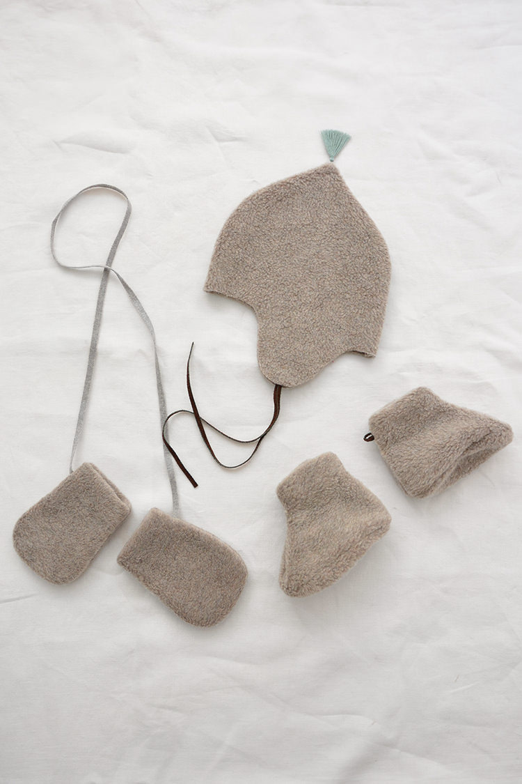 Makie: Unisex Winter Baby Gift Set: Baby Set #12 - Beige. Top.