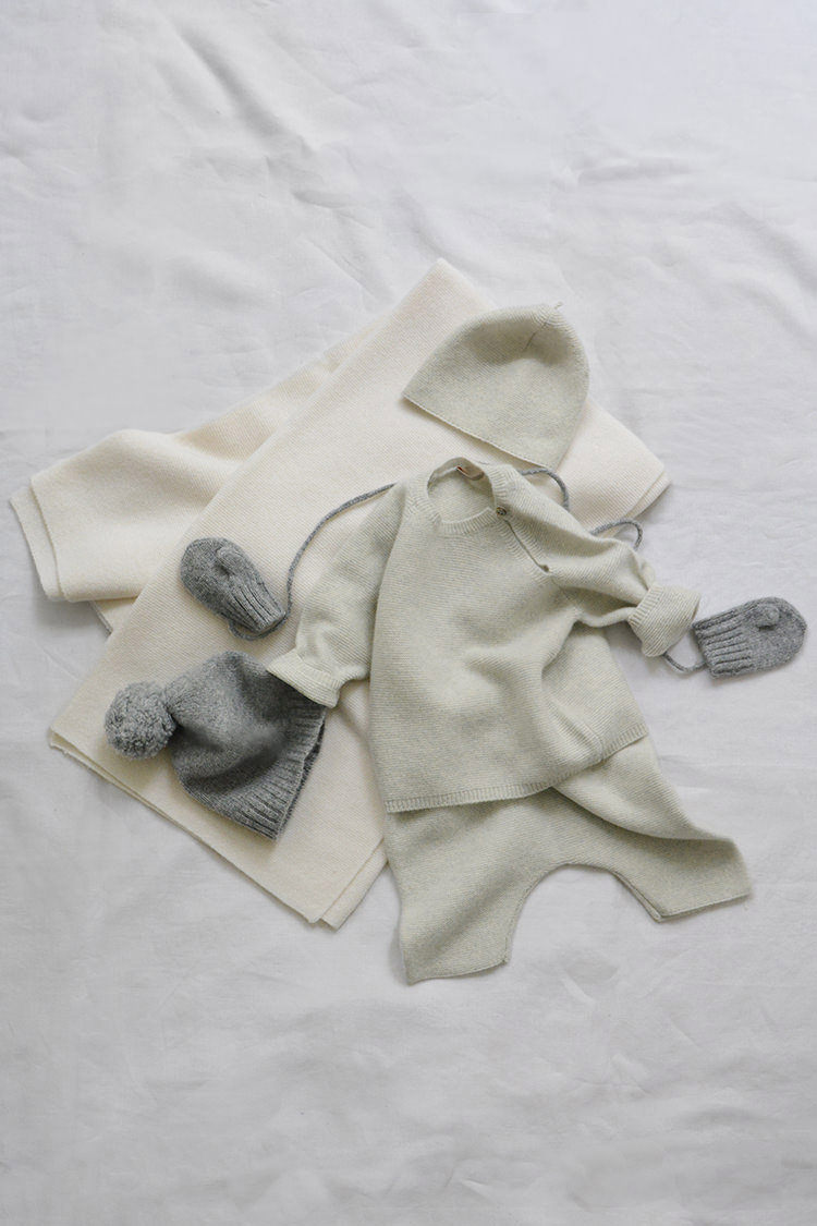 Makie Cashmere GEMA Set, a luxury baby gift set . Top