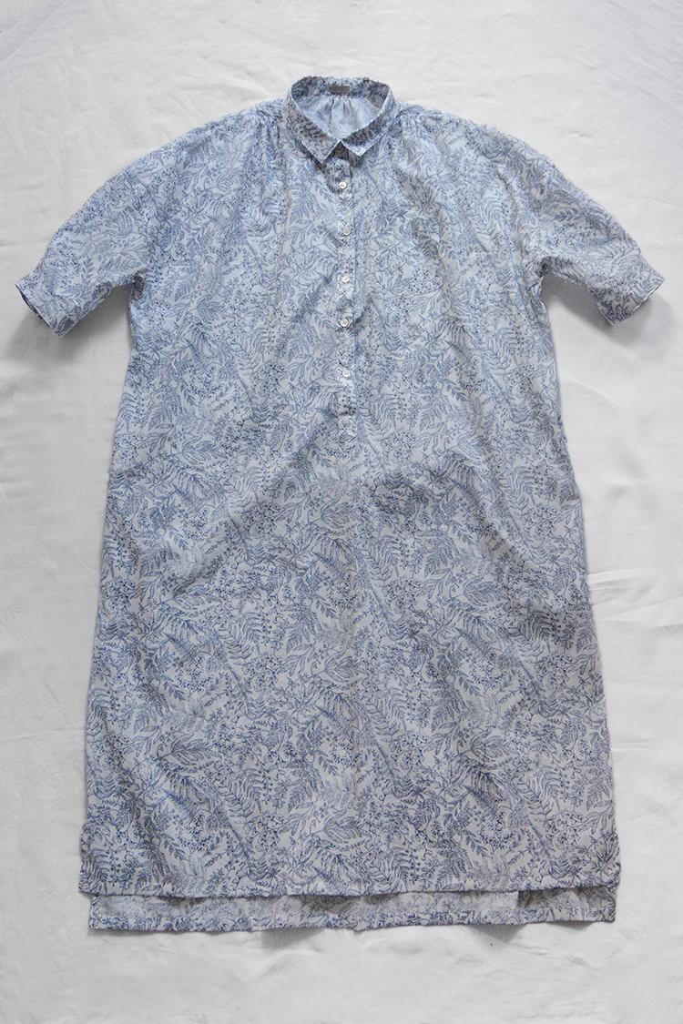 Makie Original Dress Janet, Liberty Fabric Navy Flower