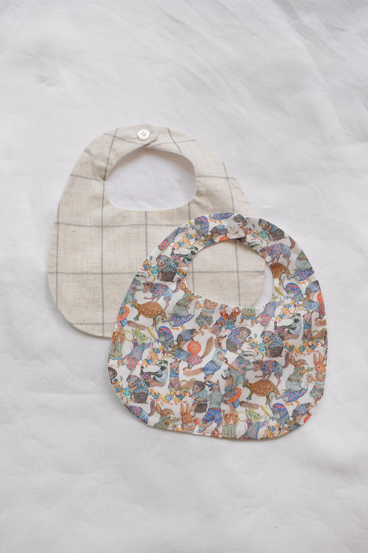 MAKIE Handmade Bibs, 100% Cotton