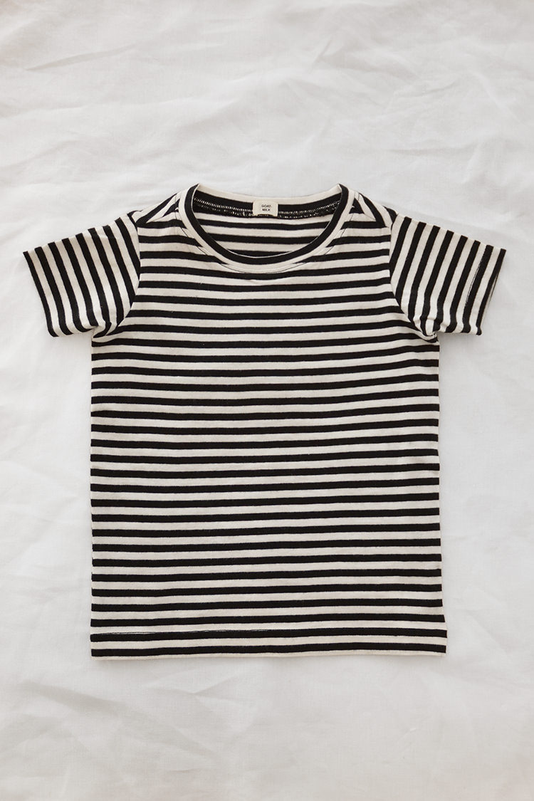 Goat Milk, Tee Shirt - Black Stripe
