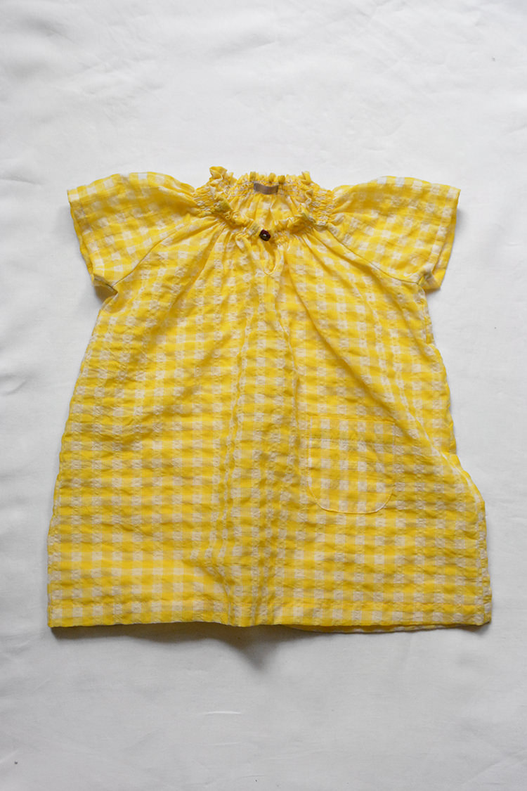 Dress Diana Cotton Dress Yellow Check
