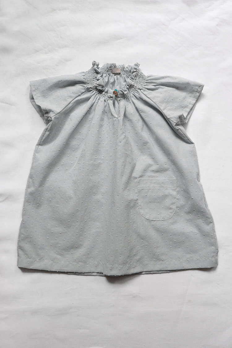 Dress Diana Cotton Dress Gray Dots