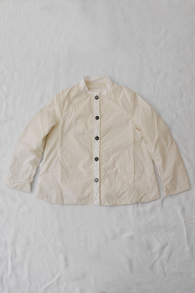 Bergfabel, Mahler Jacket Cream, 100% Cotton. Made in Italy. Top