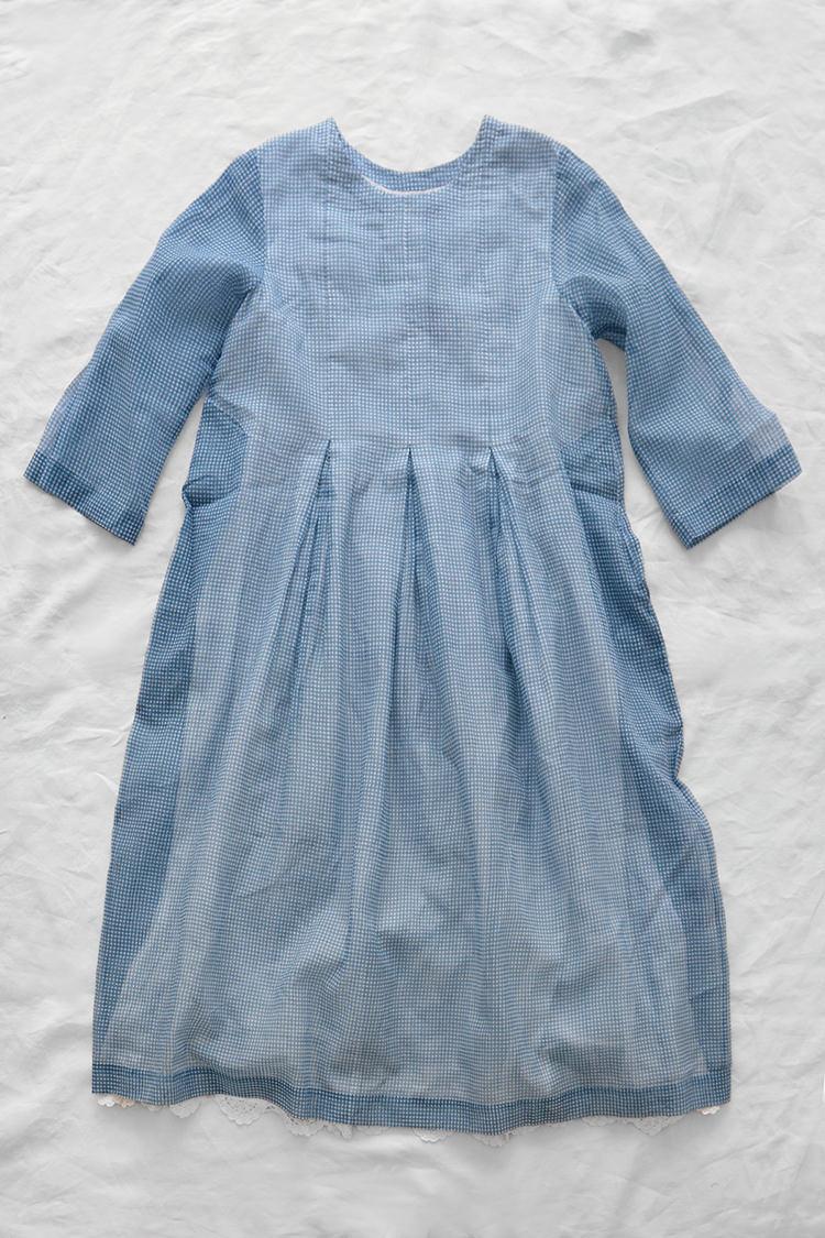 Eka Juniper Dress, 100% Kota Doriya Fabric. Made in India.