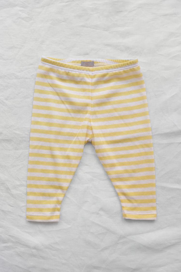 Makie Kid's Pants Yellow Stripe